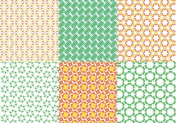 Seamless Patterns Vectors - Free vector #143785