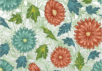 Floral Pattern - Free vector #143895
