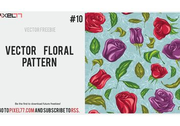 Floral Vector Pattern - Kostenloses vector #143925