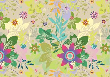 Exotic Flowers Vector - vector gratuit #144075