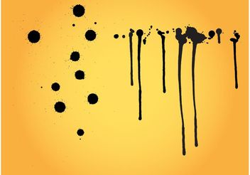 Splatter Patterns - Free vector #144235