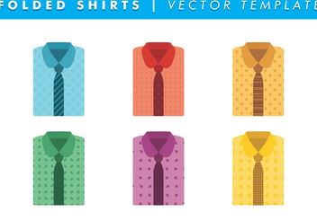 Folded Shirts With Ties Vector Free - Free vector #144285