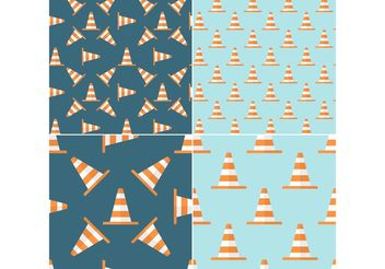 Free Orange Traffic Cone Vector Seamless Patterns - Free vector #144295