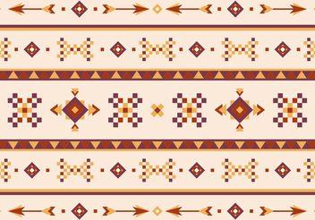 Native American Vector Pattern With Arrows - Kostenloses vector #144415