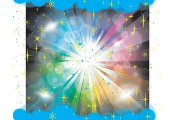 Dark Sky Rainbow Vector - Kostenloses vector #144505
