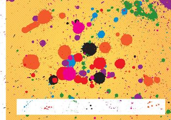 Paint Splatters Pack - Free vector #144555
