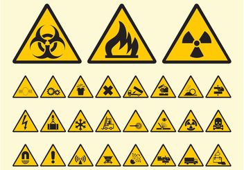 Warning Symbols Vector - Free vector #144725