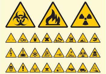 Warning Symbols Vector - Kostenloses vector #144725