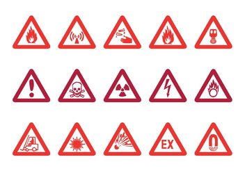 Warning Signs Vector - vector gratuit #144735