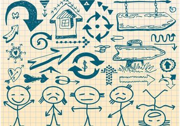 Sketches Vectors - Free vector #144805