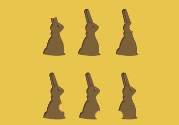 Chocolate Bunny Bites Free Vector - Kostenloses vector #144885