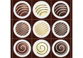 Box of Chocolate Vectors - vector gratuit #144945