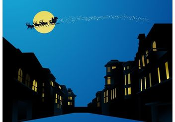 Christmas Night - vector gratuit #145165