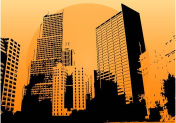 Skyscrapers Vector - Free vector #145245