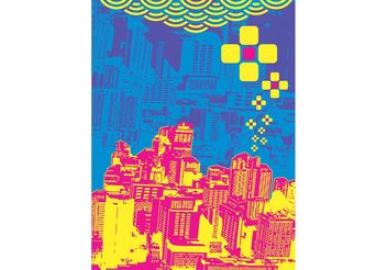 Pop Art City - vector gratuit #145305