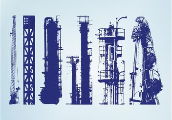 Towers And Scaffolds - vector gratuit #145375