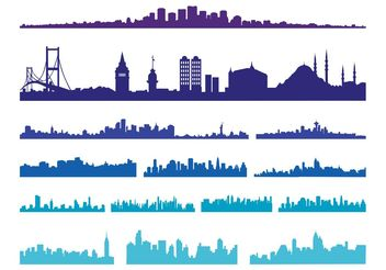 Big City Skylines - Free vector #145385