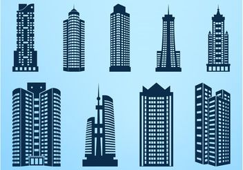 Skyscrapers Graphics - vector gratuit #145395