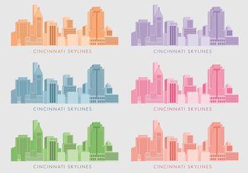 Cincinnati Skylines - Free vector #145405