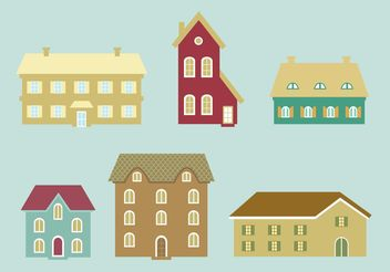 Houses Vector Icons - Free vector #145435