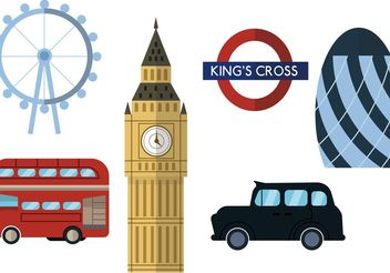 London City Scape Vector Set - Free vector #145475