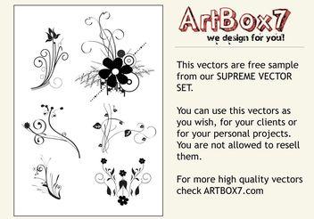 Flower Scrolls - Free vector #145745