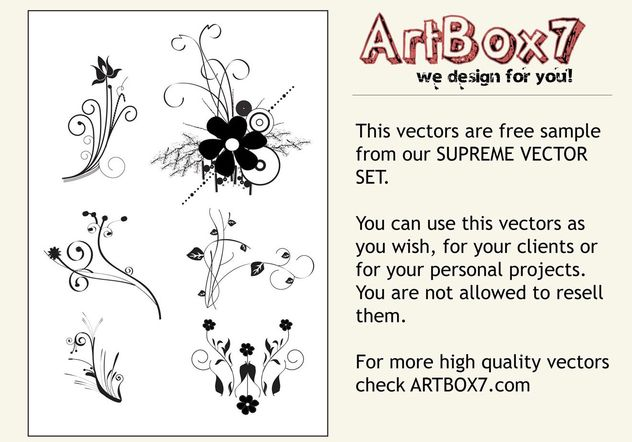 Flower Scrolls - vector gratuit(e) #145745