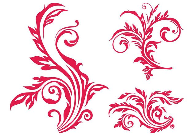 Floral Scrolls Image - Free vector #145815