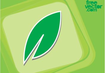 Leaf Sticker - Free vector #145845