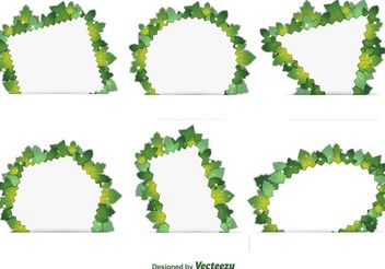 Spring Foliage Frames - Free vector #145905