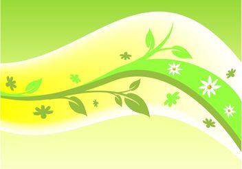 Plant Swoosh - vector gratuit #145915