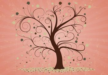 Autumn Tree Design - vector gratuit #145925