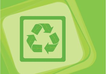 Recycling Icon Vector - бесплатный vector #145965