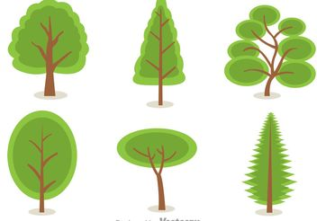 Green Tree Vectors - Free vector #145995