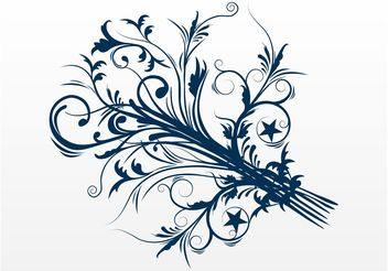 Swirly Flower - vector gratuit #146085