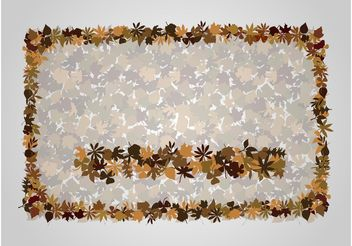 Autumn Frame - vector #146105 gratis