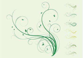 Plant Swirls - Free vector #146175