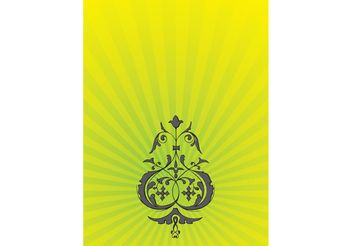 Psychedelic Flower Ornaments - бесплатный vector #146205