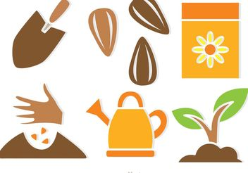 Plant Growing Vector Icons - vector #146215 gratis