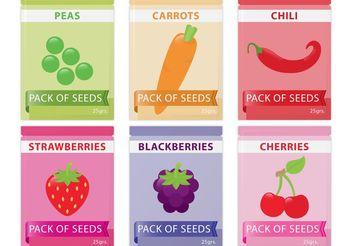 Seed Pack Vectors - Free vector #146225