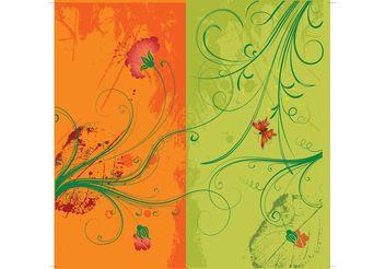 Floral Vector - vector #146255 gratis