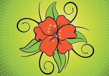 Exotic Flower Vector - Free vector #146325