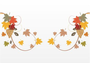 Autumn Decorations - vector gratuit #146345