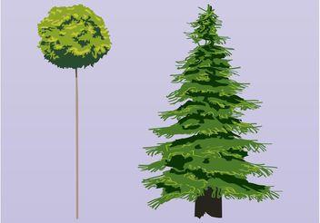 Trees Vectors - vector #146365 gratis
