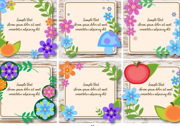 Spring and Floral Text Frames - vector gratuit #146505