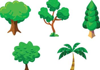 Tree Vector Pack - vector #146515 gratis