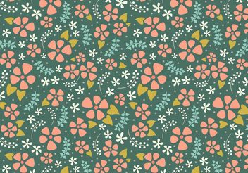 Cute Floral Repeat - vector gratuit #146595
