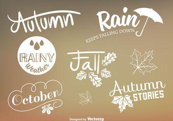 Custom Autumn Type Vector Signs - Free vector #146685