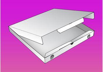 Pizza Box Vector - Free vector #146755