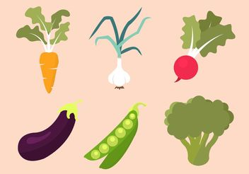 Vegetables Vector Collection - Kostenloses vector #146795